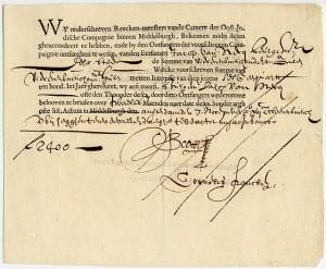 Vereinigte Ostindische Compagnie (VOC) bond